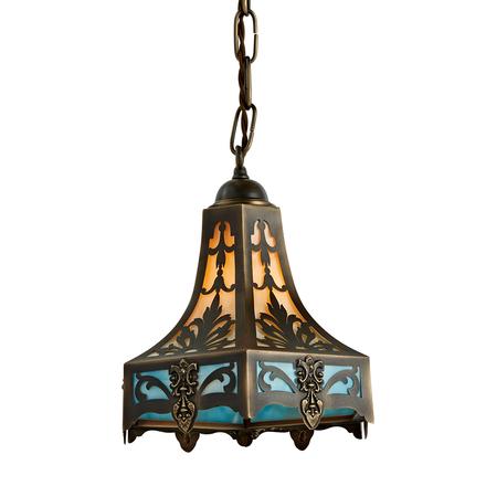 Vintage Pendant Lights For Kitchens Antique lighting vintage pendant lighting rejuvenation filigree brass lantern pendant w amber blue art glass workwithnaturefo