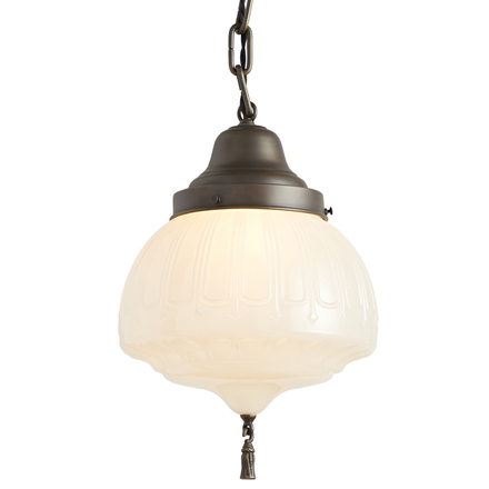 Antique lighting vintage pendant lighting rejuvenation classical revival chain pendant w antiqued brass finish aloadofball Image collections
