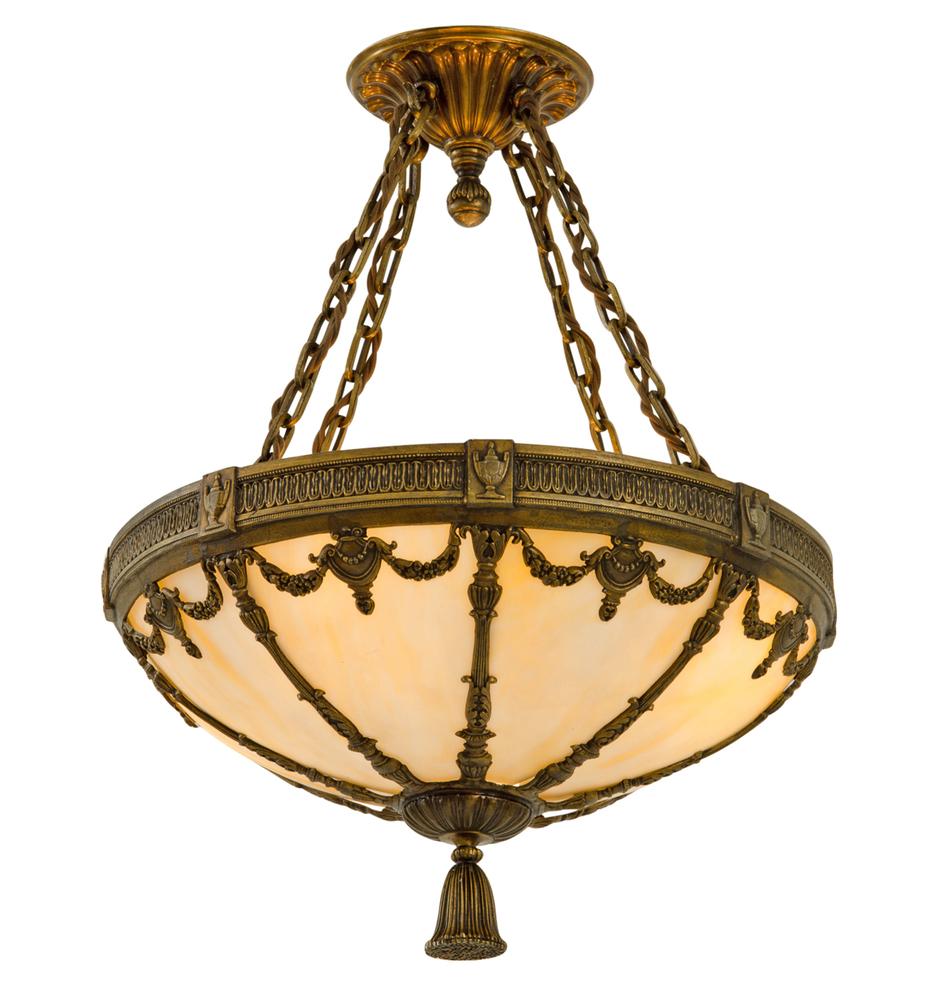 Classical revival bowl chandelier w art glass rejuvenation classical revival bowl chandelier w art glass r7104a r7104 aloadofball Images