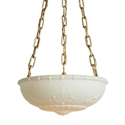 Large deeply cast bowl chandelier rejuvenation aloadofball Images