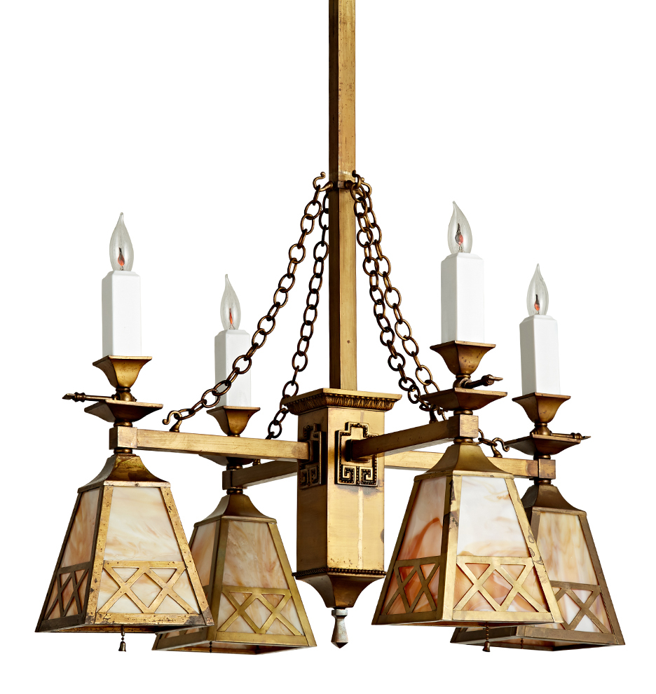 Eight light mission chandelier w art glass lanterns rejuvenation r7381 wk45 c1 171206 060 r7381 aloadofball Gallery