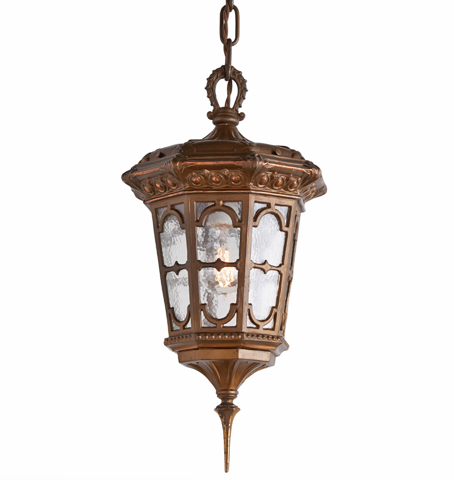 Romance Revival Entry Pendant W Textured Glass