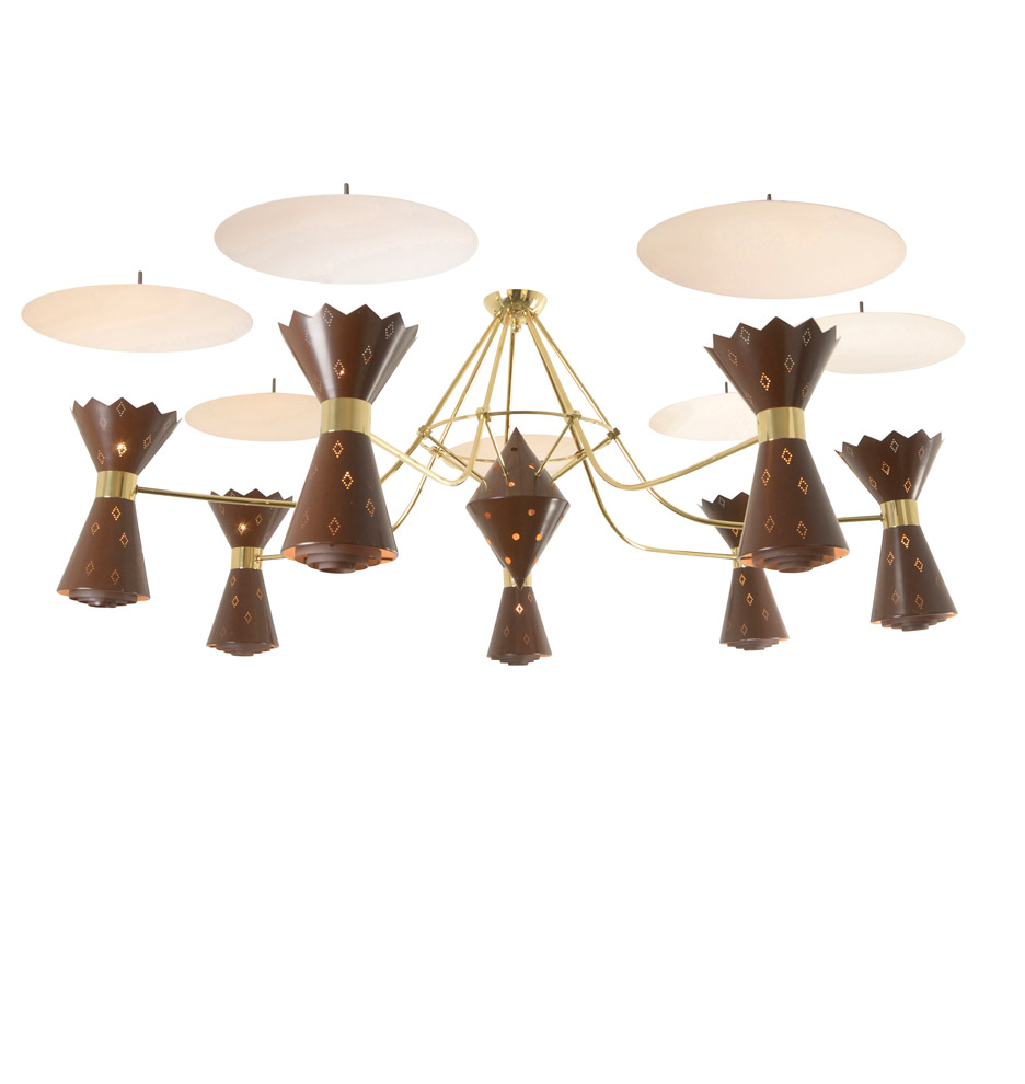 Stunningly mid century gypsy lounge chandelier rejuvenation r8056 aloadofball Images