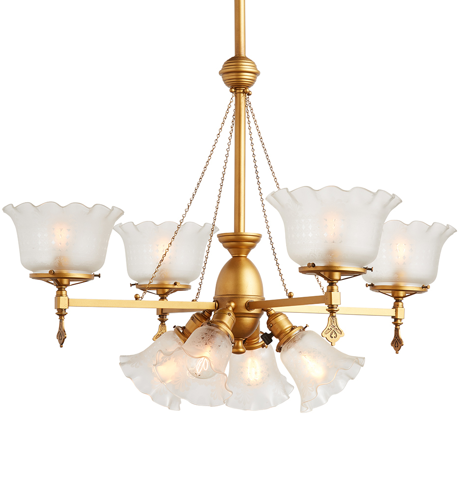 Electric Chandelier Eight light gaselectric chandelier w central socket cluster r8915 wk43 c2 171127 10 r8915 audiocablefo