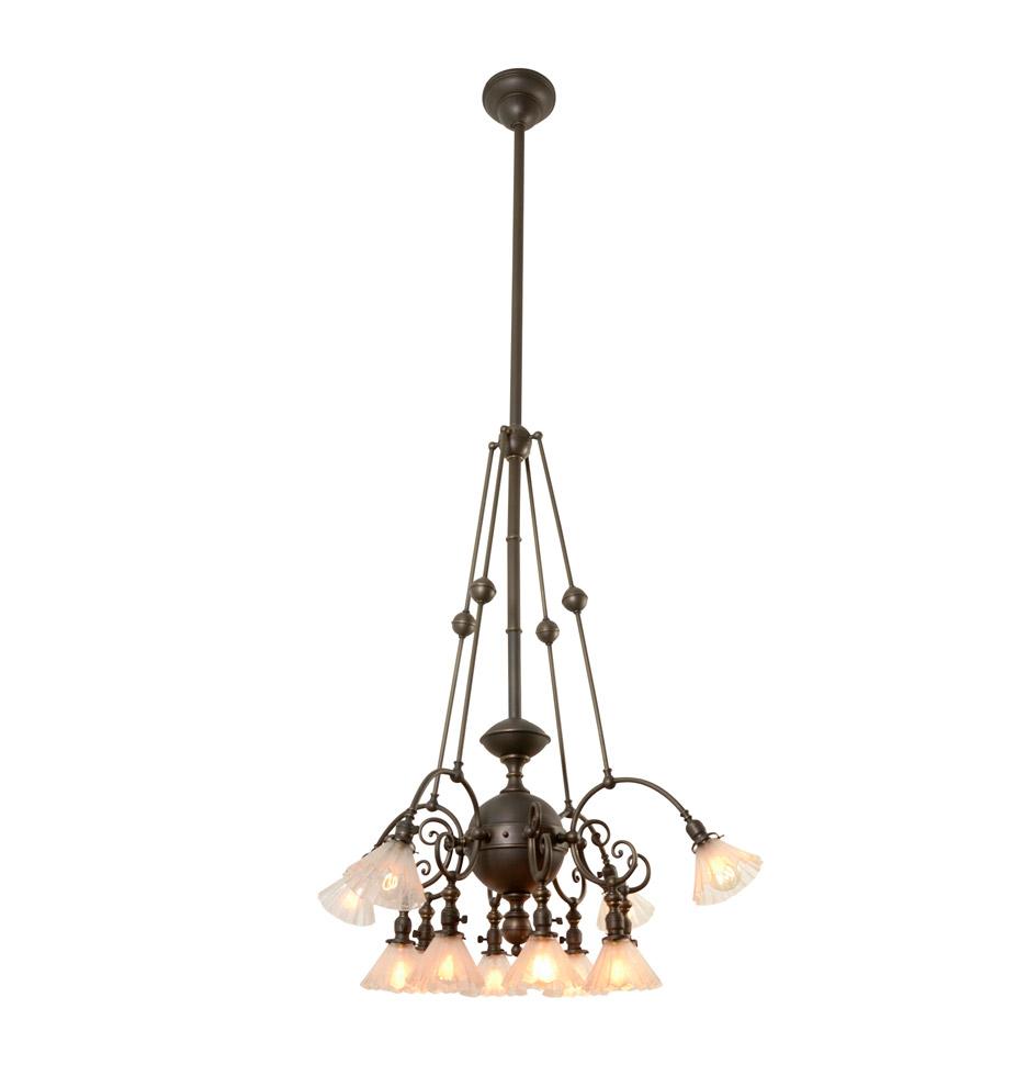 Rare and remarkable 12 light commercial chandelier rejuvenation r9043a r9043 r9043b r9043c r9043d arubaitofo Choice Image