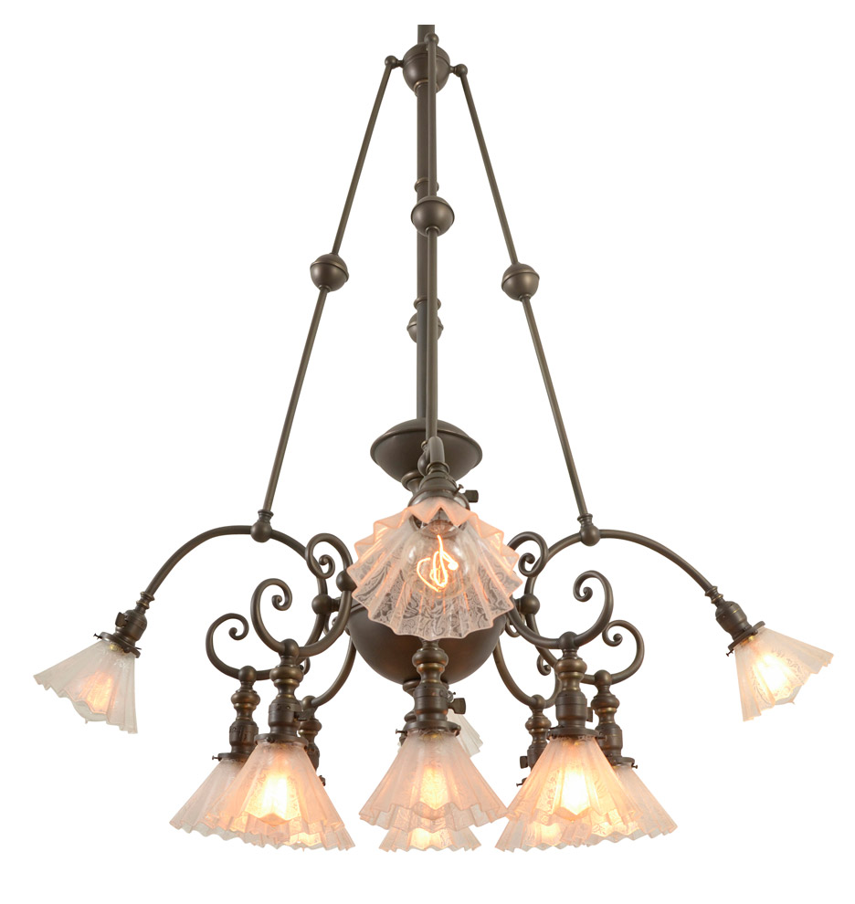 Rare and remarkable 12 light commercial chandelier rejuvenation commercial chandelier r9043a arubaitofo Choice Image