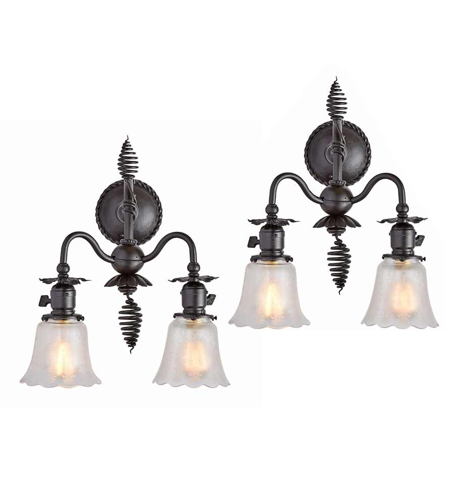 Pair of wrought iron victorian wall sconces rejuvenation victorian wall sconces r9604 170428 01 aloadofball Gallery