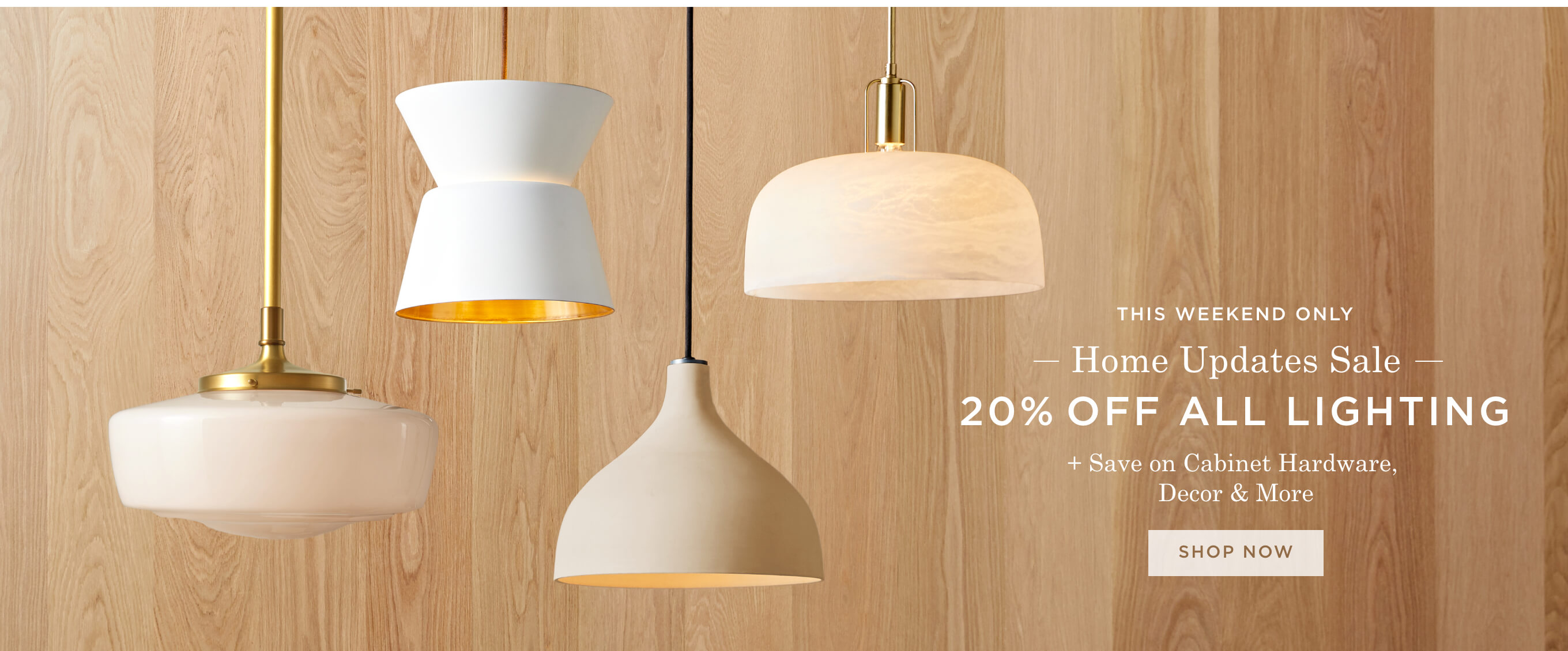 20% Off All Lighting + Save On Cabinet Hardware, Decor & More