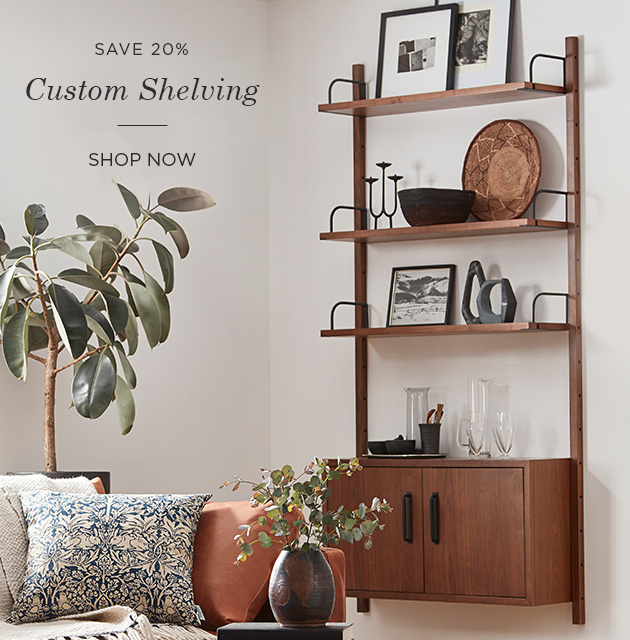 Save 20% on Custom Shelving