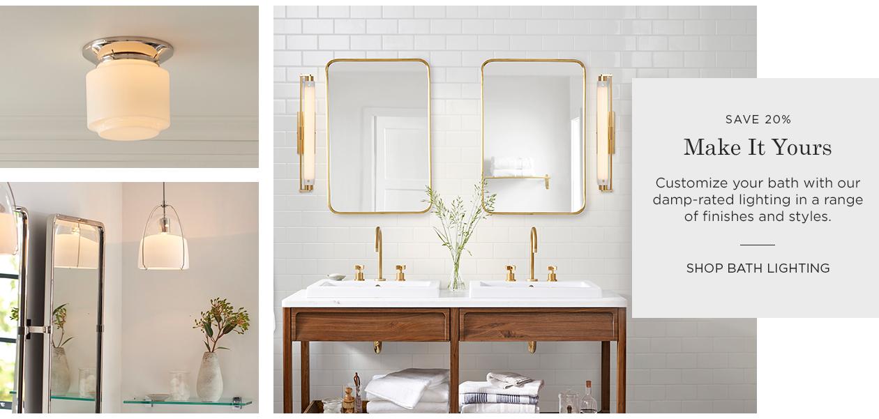 Save 20% on Bath Lighting