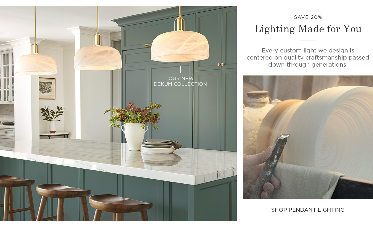 Save 20% on Pendant Lighting