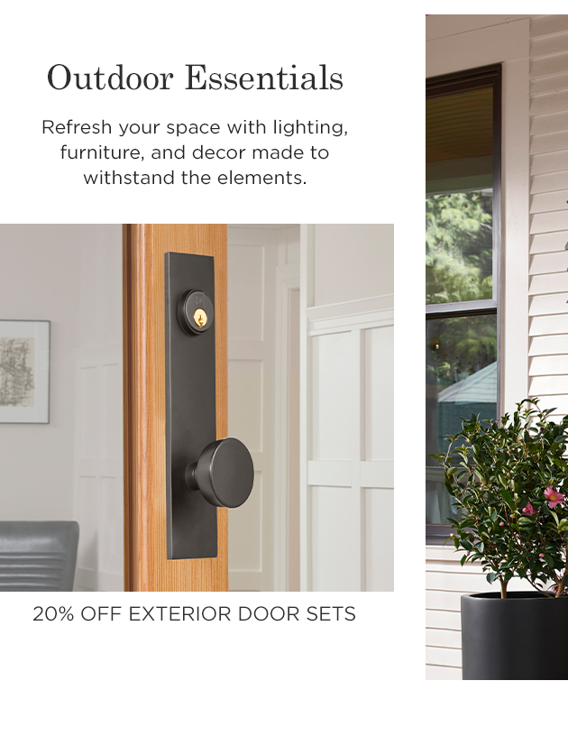 20% Off Exterior Door Sets