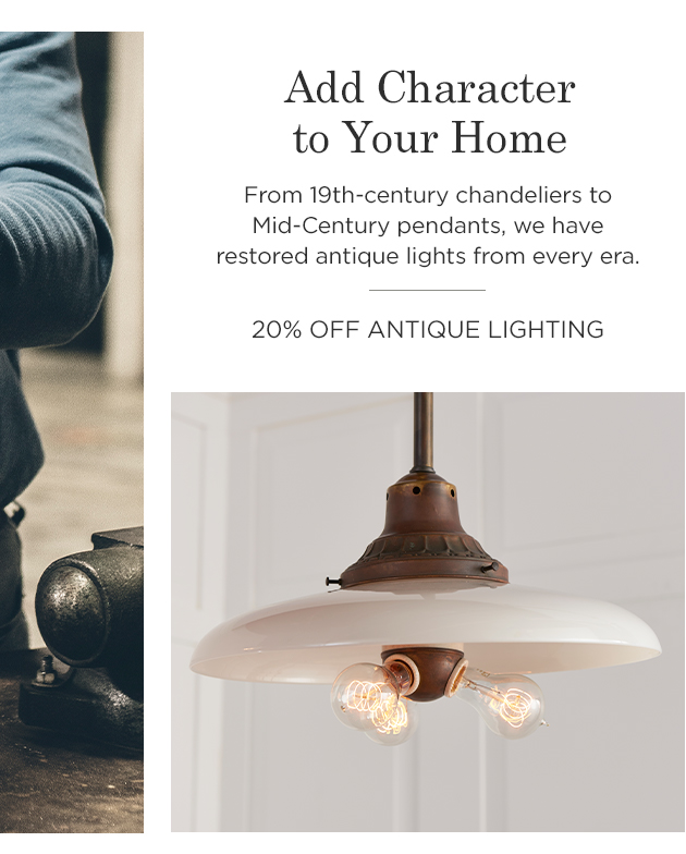 20% Off Antique Lighting