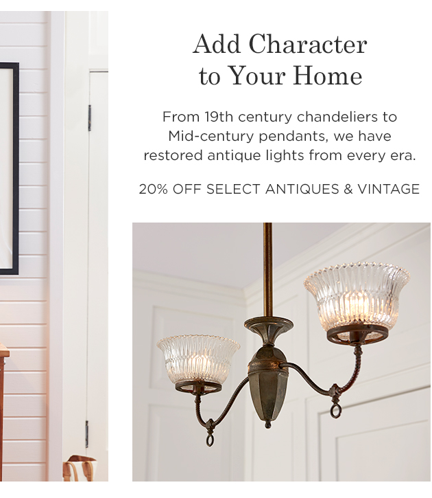 20% Off Select Antiques & Vintage