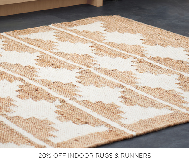 20% Off Indoor Rugs & Runners