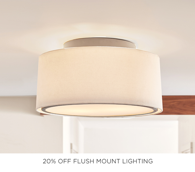 20% Off Flush Mount Lighting