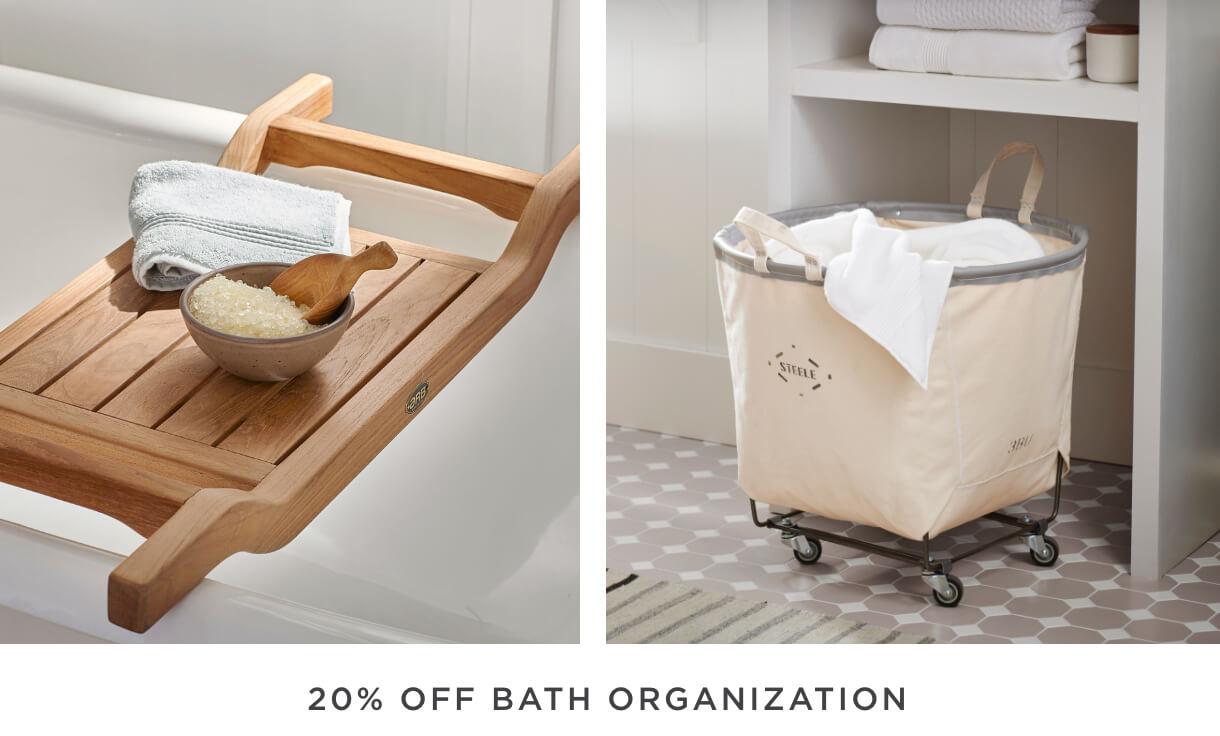 20% Off Bath Organization