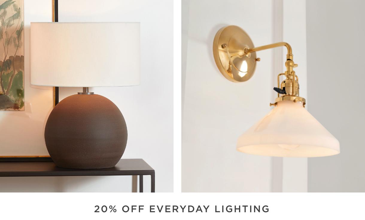 20% Off Everyday Lighting