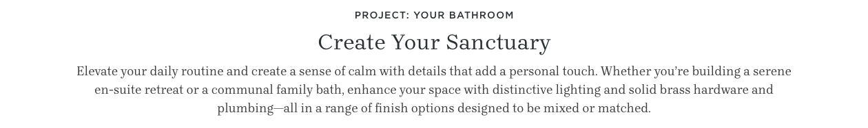 Project: Your Bathroom