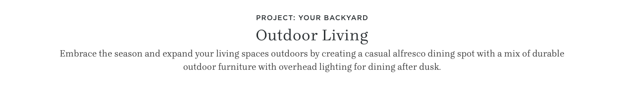 Project: Your Backyard