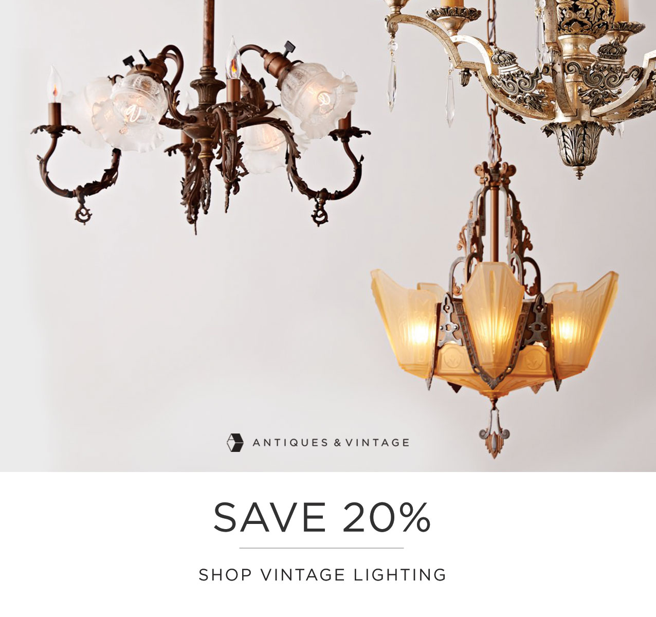 Shop Antiques & Vintage Sale Lighting