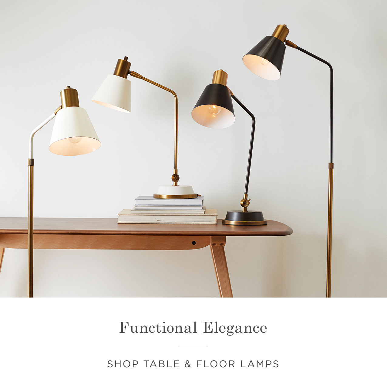 Shop Table & Floor Lamps