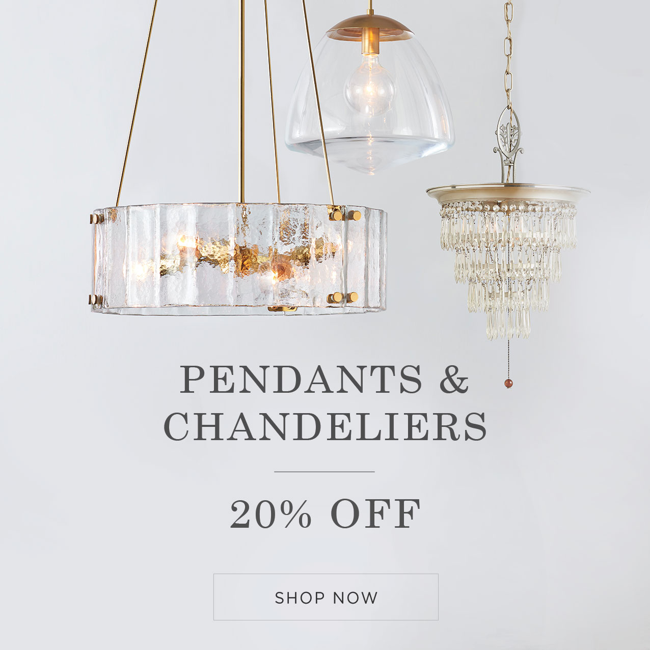 Pendants and Chandeliers Sale