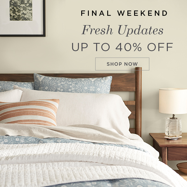 Starting at 40% off Bedroom
