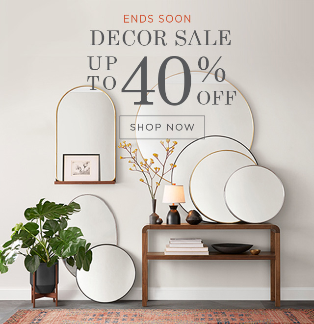 up to 40% Off Rugs, Mirrors, & Decor