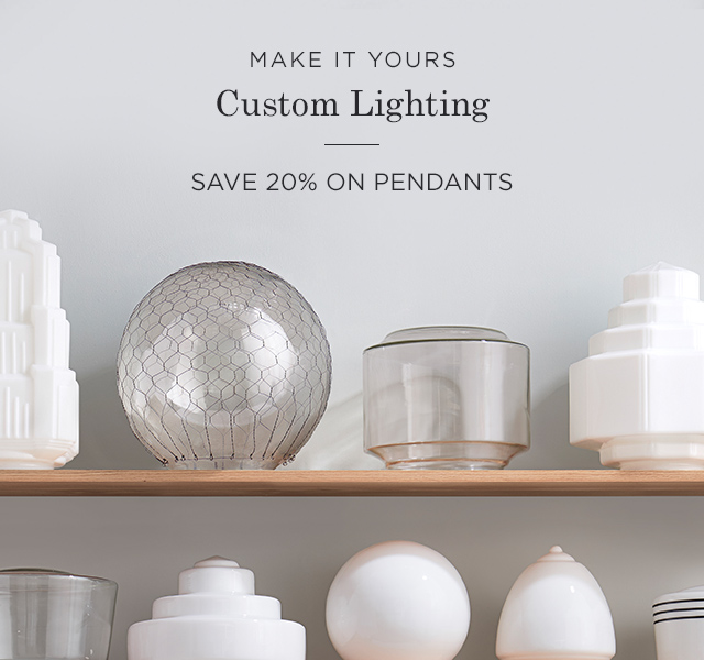 20% Off Pendant Lighting