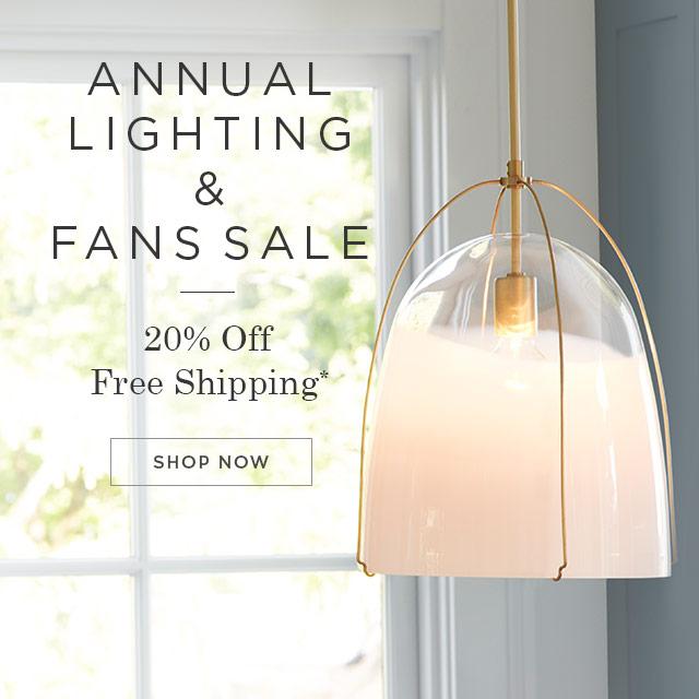 20% Off Lighting & Fans