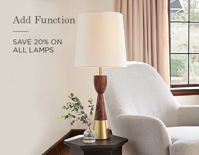 20% Off Table & Floor Lamps