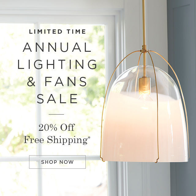 20% Off Lighting & Fans
