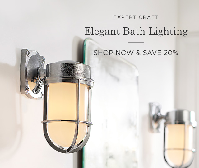 Save 20% on Bath Lighting