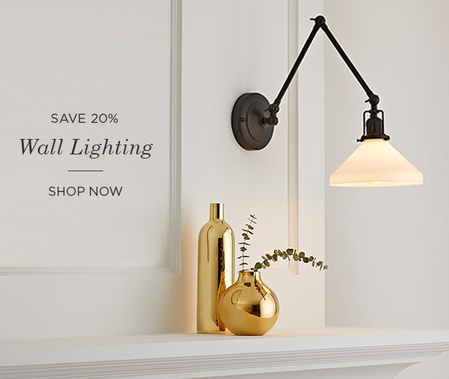 Save 20% on Wall Lighting