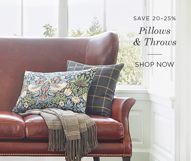 Save 20-25% on Pillows & Throws