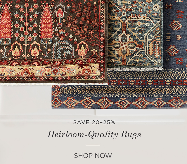 Save 20-25% on Rugs