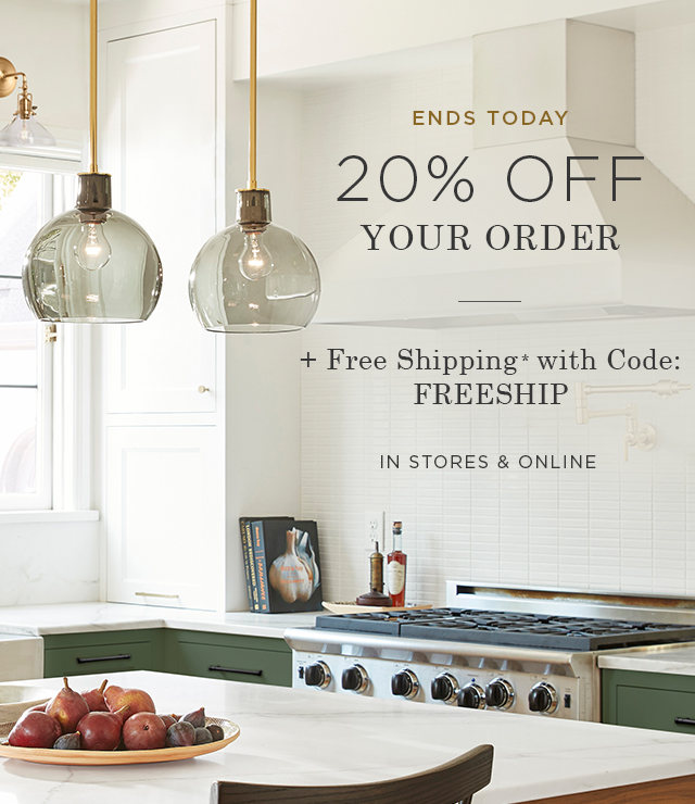 20% Off Your Order + Free Shipping
