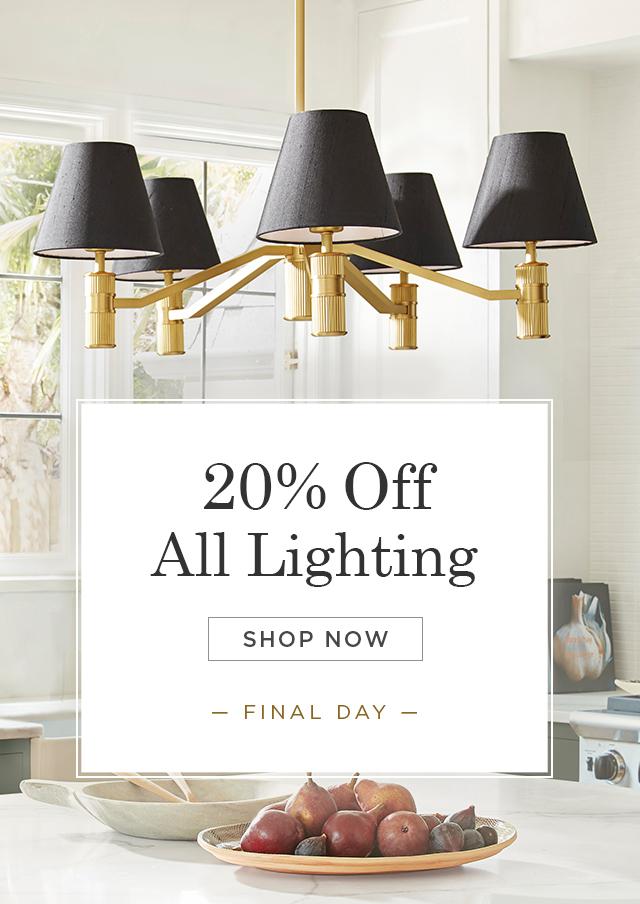 20% OFF All Lighting