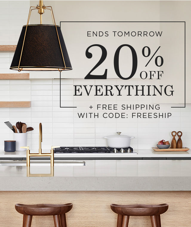 20% Off Everything + Free Shipping with code: FREESHIP