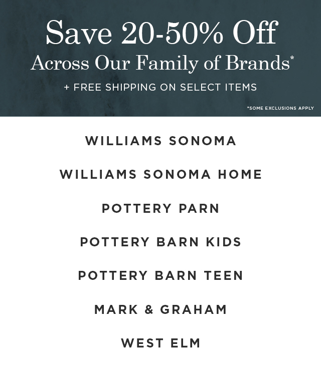Save Across Our Family of Brands