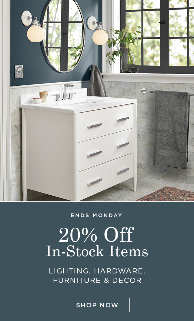 Save 20% on In-Stock Items