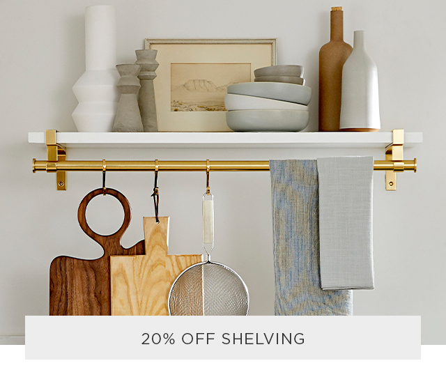 20% Off Shelving