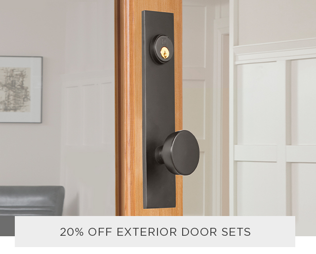 20% Off Exterior Hardware