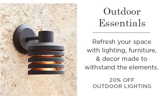 20% Off Outdoor Lighting