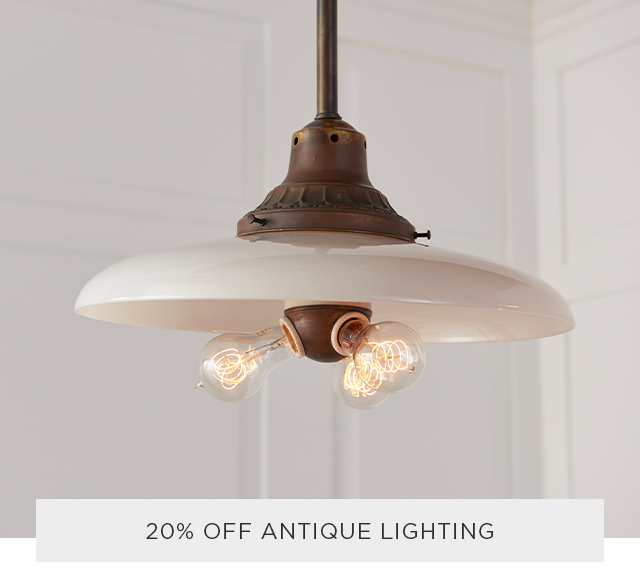 20% Off Antique Lighting
