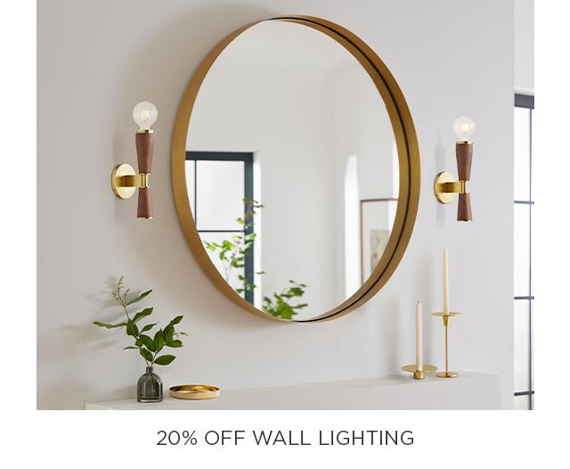 20% Off Wall Lighting