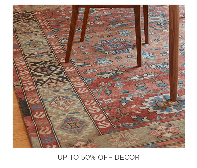 Up to 50% Off Decor
