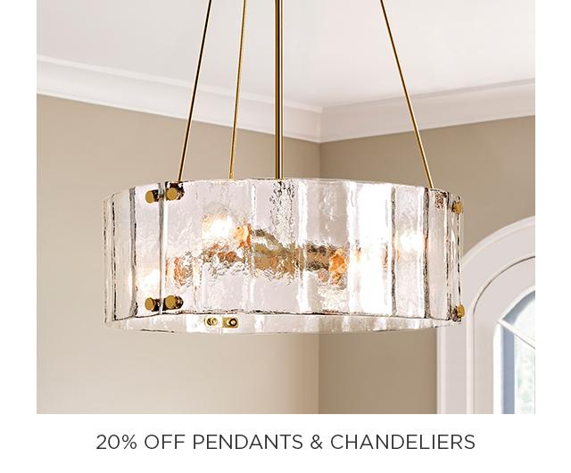 20% Off Pendants & Chandeliers
