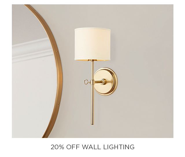 20% Off Wall Lighting